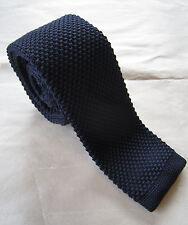 SUPERNOVA Skinny Navy Knitted Silk Tie Mod Indie Narrow 5 cm Scooter