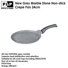 Non-stick Crepe Pan 24cm, Pancake pan, Marble Stone Coated, Induction, P&P