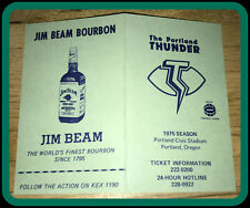 1975 PORTLAND THUNDER JIM BEAM BOURBON FOOTBALL SCHEDULE EX+NM CND FREE SHIPPING