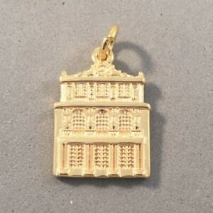 Gold Plated 925 Sterling Silver Chateau VERSAILLES CHARM Palace Paris NEW TF08G