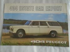 Peugeot 404 Estate Car Export brochure 1970 English text