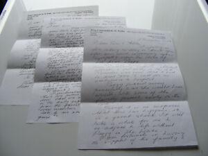 Wing Commander  Ken Wallis  Personal Letters (3) To E.J.Read  2003  2004  & 2007