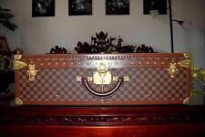 $8400 Louis VUITTON AUTHENTIC ALZER 75 DAMIER Ebene Suitcase Trunk Hard Case WOW