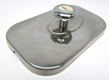 Vintage Soda Fountain Ice Cream Topping Dispenser Stainless Top Lid Vanilla