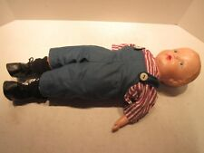 "1920's Antique 19 1/2"" Baby Boy Doll Composition Toy"