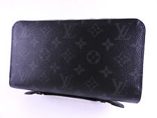 Auth LOUIS VUITTON Monogram Eclipse Zippy XL Zip Around Long Wallet M61698 A7163
