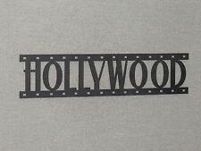 HOLLYWOOD Movie Film Strip Wood Wall Word Sign Art Decor Movies Reel