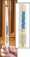 Baptism by Water and the Holy Spirit Candle (71153) NEW with Baptism Certificate