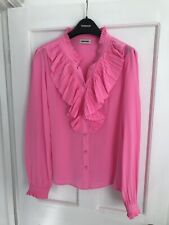 Zadig Voltaire Silk Shirt Pink - Tacco Ruffle Trim
