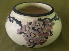 Vintage Weller American Art Pottery White & Decorated Hudson Squat Shaped VASE
