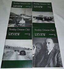 Bentley Drivers Club Review 1995, 4 Issues, 195 Feb, 196 May, 197 Aug, 198 Nov