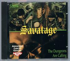 SAVATAGE  SIRENS/THE DUNGEONS ARE CALLING CD ARMANDO CURCIO ED.