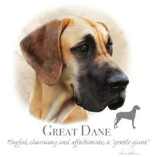 """GREAT DANE Dog Head with Phrase-18""""x22"""" fabric Panel to Sew .Pic is 10""""x10.5""""."""