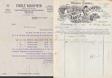 BIELEFELD, Rechnung 1914, Wäsche-Fabrik Fritz Kramer
