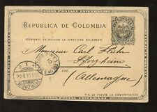 COLOMBIA 1901 ADVERT STATIONERY MARITIME COLON ST NAZAIRE FRENCH PAQUEBOT
