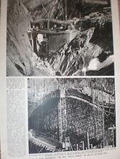 Photo article new Devil's Bridge on the St Gothard pass Switzerland 1955