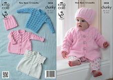 KING COLE PATTERN 3858.CHUNKY BABIES..  14 - 20 Ins/31-51cms.  0 to 12 months.