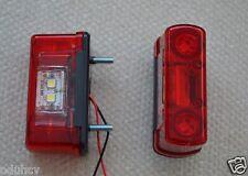 COPPIA 4 LED POSTERIORE LUCI DI INGOMBRO & TARGA LAMPADA ROSSO/Bianco 12V/24V
