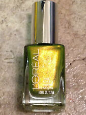 NEW L'OREAL NAIL POLISH THE TEMPTRESS TOUCH GREEN GOLDEN LEMONGRASS LACQUER