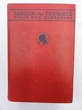TARZAN THE TERRIBLE EDGAR RICE BURROUGHS 1921 A G McCLURG H/B  GOOD CONDITION