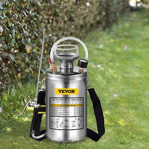Pneumatic Sprayer Stainless Steel Hand-Pumped Sprayer 1.5 Gallon for Home Garden