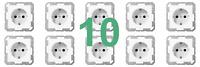 10 Stck. Jung A1520WW Steckdosen Alpinweiss AS500 AS 500 Steckdose A 1520 WW