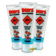 3x Bens Family Biting Mosquito & Insect Bite Repellent Cream 100ml 30% DEET