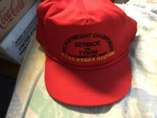 Vintage 1986 Boxing Hat Mike Tyson Vs Berbick World Championship onsite hilton