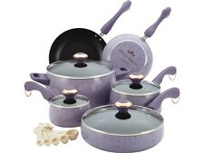 Paula Deen 13064 Signature Porcelain Nonstick 15-Piece Cookware Set, Lavender Sp