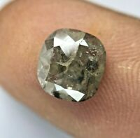 Rose cut Loose Natural diamond SJ5126 1.49 Ct Natural Loose Diamond Rose Cut Round Shape Ice Grey Color 3 pcs 4.36 mm to 4.46 mm