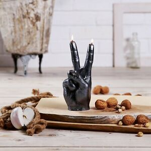 Peace Sign Hand Candle  - gesture, hippy, peace, relaxed, message, wax