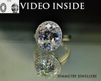 5.8 Ct Engagement Ring Wedding Diamond Ring Real 925 Sterling Silver