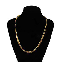 """Yellow Solid Gold Filled Chain Necklace 18""""5mm Men's Women AMAZING jewelry"""