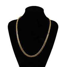 "Gold Filled Chain Necklace 18"" 5mm Men Women jewelry different look ! FR SH"