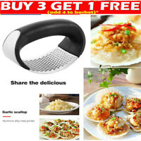 Kitchen Stainless Steel Garlic Press Crusher Manual Rocking Mincer Squeezer