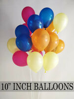 10 -200 PK 10 inch LATEX Balloons Colorful Wedding Party Birthday Balloons UK