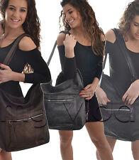 Borsa sacca donna spalla morbida grande tracolla handbag bags BS38