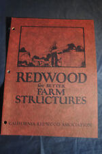 1927 Redwood for Better Farm Structures Brochure