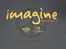 HARD ROCK CAFE - IMAGINE THERE'S NO HUNGER - MEDIUM - GREEN T-SHIRT - E1637