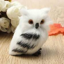 Cute Lovely Owl White Black Furry Christmas Bird Ornament Decoration-Ador.AU