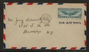 US Air Mail First Day Cover Scotts C24  Used Cat. Value $50.00             Box 5