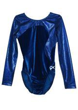 GK Elite Royal Hologram/Velvet Gymnastics Leotard - AXS Adult Extra Small 3984