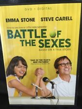 Battle of the Sexes (DVD, 2017) Emma Stone, Steve Carell Free Shipping VG