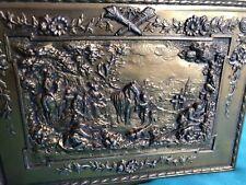 Vintage Jennings Bros. Brass Repousse Box