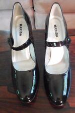 Marisa Brand Patent Leather Pumps Size 37 1/2 - Made in Portugal