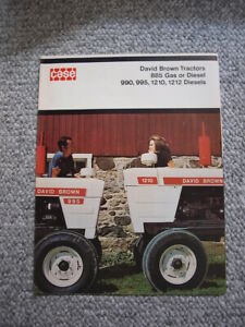 Case David Brown 885 990 995 1210 1212 Tractor Color Brochure 6 pg Orig MINT '72
