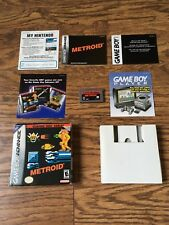Metroid Classic NES Series (Nintendo GBA, 2004) New in the Box, See Description