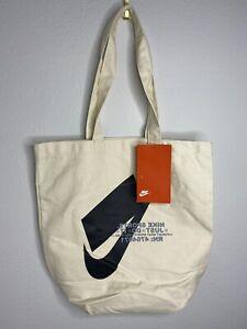 Nike Heritage Tote Canvas Bag Natura/Tan/Beige BA6027-130 One Size NWT