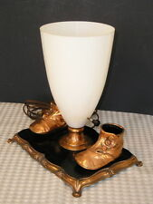 Vintage Bronze~Plated High Button Shoe Lamp Nursery Cottage Cute OLD CUTE
