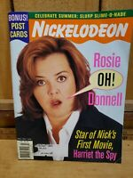 Nickelodeon Magazine JuneJuly 1996 Collectible Bonus Post Cards Rosie Oh Donnell